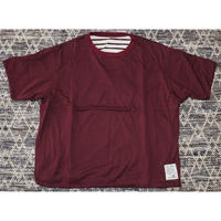 H.UNIT / Reversible wide T-shirt