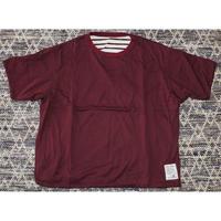 H.UNIT / Reversible wide T-shirt
