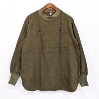 【USED】ハンガリー軍 フランネルプルオーバーモックネックシャツ ラウンド型 ( OLIVE )
