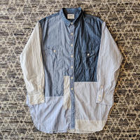 H.UNIT / Chambray stripe crazy work long shirt