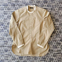 MULLER & BROS. / stand collar shirts (cotton)