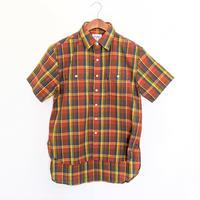 H.UNIT / Madras check  work short sleeves shirt