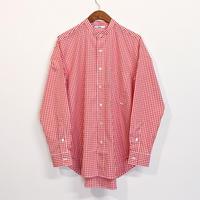 ämne / gingham B.C L_s shirts  (Orange)