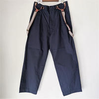 H.UNIT / Comba twill suspenders trousers