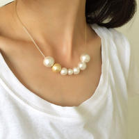 necklace cotton pearl 9