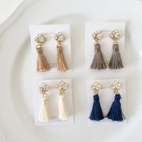 square×tassel pierce/earring