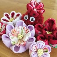2017/10/30開催 【初級編】七五三や女の子の和服イベントに!つまみ細工で可愛いお花の髪飾りを作ろう