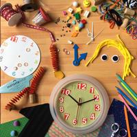 2017/8/29  絵本読み聞かせと、マテリアループの眠れる素材を使った世界にひとつの友だち時計作り