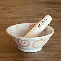 4.5号すり鉢 うずまき_ピンク