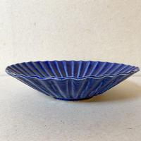 瑠璃釉 輪花7寸皿