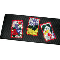 花札の半巾帯