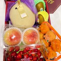 #33#34:夏一番の贈り物!国産フルーツセット(静岡マスクメロン大玉付き)