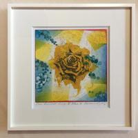 """アートプリント・シリーズ """"One hundred rose - 011 E Blue"""""""
