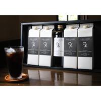 リキッドアイスコーヒー4本(無糖)カフェオレベース1本ギフト