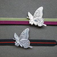 湖衣蝶(揚羽蝶)の帯留