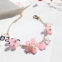ブレスレット*桜の花びら(0088)