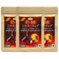 光健 発酵 黒マカ ーリック マカ にんにく 亜鉛 酵母 サプリ 120粒 約30日分 (120粒×3)