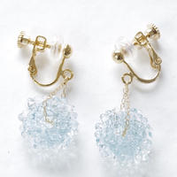 14kgf Mizore earrings Ice Blue
