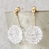 14kgf Mizore earrings Clear