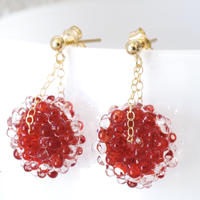 14kgf Mizore earrings Red