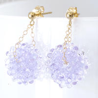 14kgf Mizore earrings Lavender