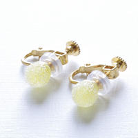 14kgf Bon Bon earrings Lemon