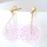 14kgf Mizore earrings Sakura