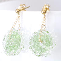 14kgf Mizore earrings Spring Green