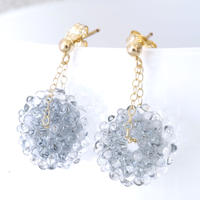 14kgf Mizore earrings Gray