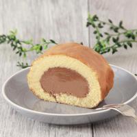 【熊本県産小麦使用!】ベルギーチョコロールケーキ  1個