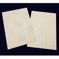 【少々難アリ特価】半懐紙 本楮紙 総からかみ紋様 (2種各5枚 計10枚入)