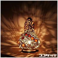 ひょうたんランプ026【丸風/ホワイト】
