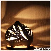 ひょうたんランプ014【月花/ホワイト】