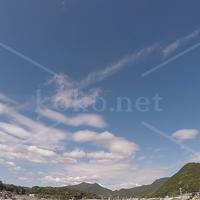 流れる雲(東向き):タイムラプス:魚眼レンズ