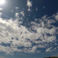流れる雲(北東向き):タイムラプス:魚眼レンズ