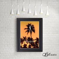 サンセットビーチ イヴサンローラン オマージュアート_A4サイズ『Blues』