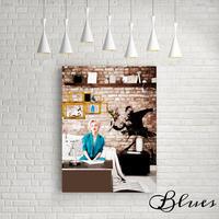 マリリンモンロー バンクシー コラージュ キャンバス _A2A1サイズ『Blues』