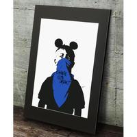 ドルク ミッキー ストリート★オマージュアート現代アート  高級マットパネル_A2A1サイズ『Blues』