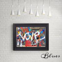 ラブウォール プロポーズ ラブ グラフティ アート_A4サイズ『Blues』
