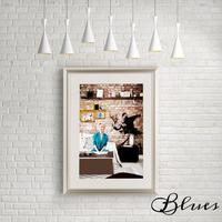 マリリンモンロー バンクシー コラージュアート_A4サイズ『Blues』