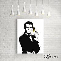 007 ジェームズボンド バナナ 現代アート キャンバス_A2A1サイズ『Blues』