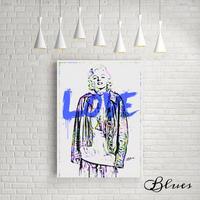 マリリンモンロー ストリートファッション アート キャンバス_A2A1サイズ『Blues』