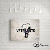 スヌーピー バレンシアガ ヴェトモン オマージュアート_P10P20サイズ『Blues』