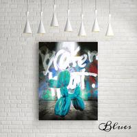 バルーンアート ドッグ 現代アート キャンバス_A2A1サイズ『Blues』