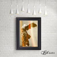 勝利の女神 サモトラケのニケ ギリシャ彫刻 コラージュ _A4サイズ『Blues』