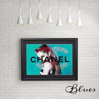アリアナグランデ シャネル ローズ _A4サイズ『Blues』
