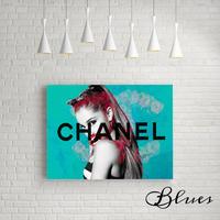 アリアナグランデ シャネル ローズ キャンバス _P10P20サイズ『Blues』