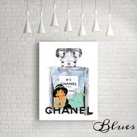 シャネル 香水 ジャスミン キャンバス _P10P20サイズ『Blues』