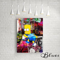 シンプソンズ キャラクター コラージュアート キャンバス _A2A1サイズ『Blues』