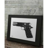 A1 高級マットパネル【 LV HAND GUN 】